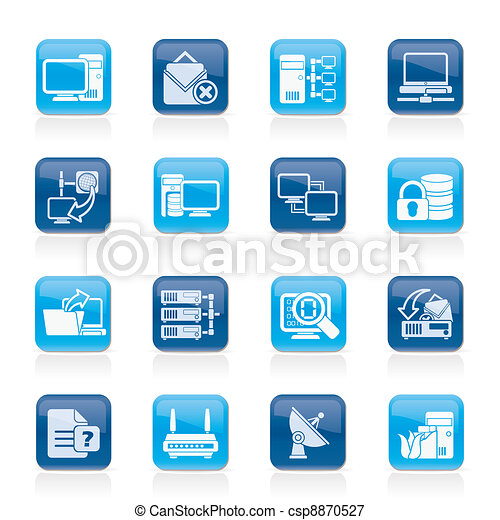 Computer Network and internet icons - csp8870527