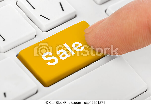 Computer notebook keyboard with Sale key - csp42801271
