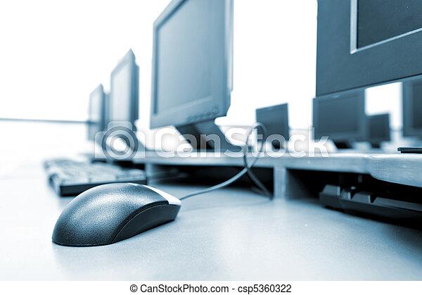 computer, posto lavoro, stanza - csp5360322