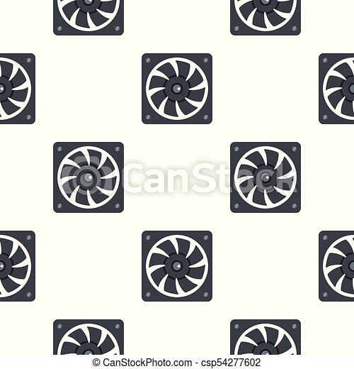 Computer power supply fan pattern seamless for any design vector ...