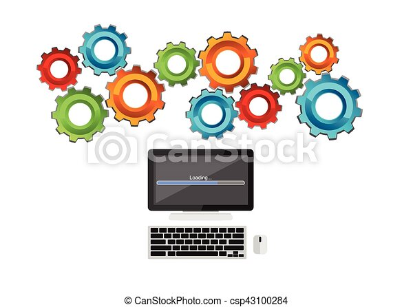 computer process concept technology mechanism concept vector rh canstockphoto com technology clipart free download editable technology clip art pictures