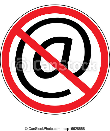 computer prohibition sign - csp16628558