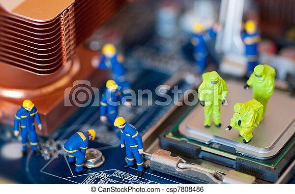 Computer repair concept - csp7808486