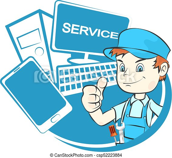 computer repair master master in computer repair and smartphones rh canstockphoto com computer repair clipart free Computer Clip Art