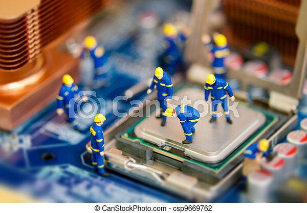 Computer repair - csp9669762