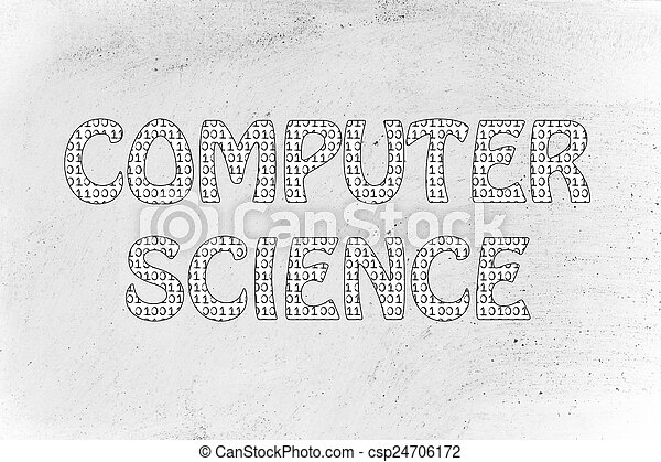 computer science writing binary code pattern the word  computer science writing binary code pattern stock photo