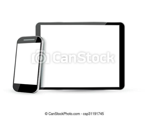 Computer Screen, Tablet PC and Mobile Phone  - csp31191745