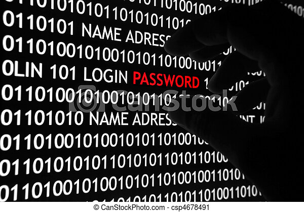 Computer security concept - csp4678491