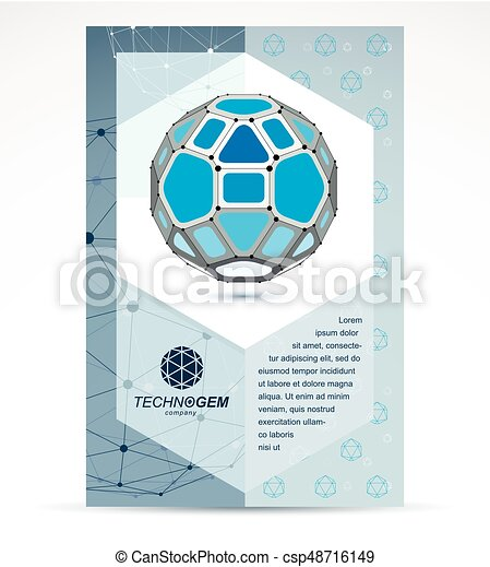 Computer Technologies Creative Advertisement Brochure  Eps Vector