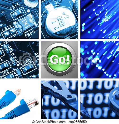 computer technology collage - csp2865659