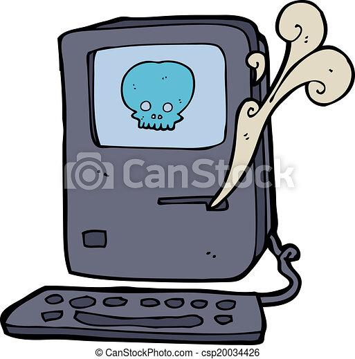 computer virus cartoon vector illustration search clipart rh canstockphoto com