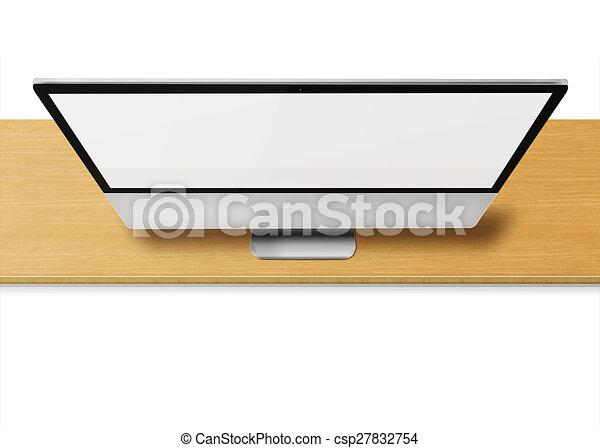 computer, vuoto, monitor, moderno, screen. - csp27832754