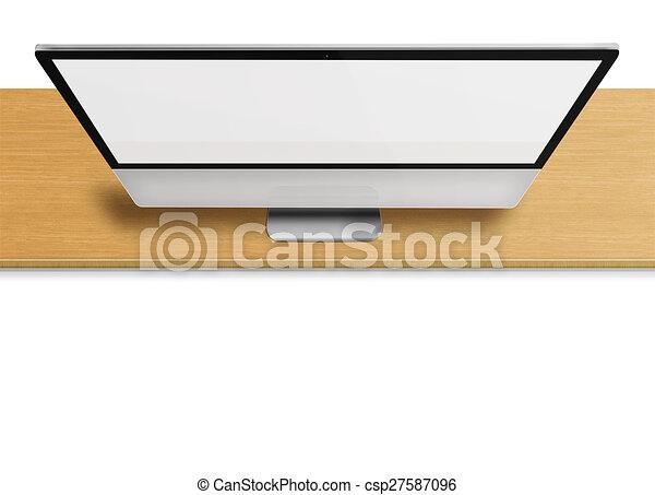 computer, vuoto, monitor, moderno, screen. - csp27587096