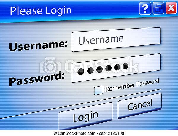 Computer Web Signin User Security - csp12125108