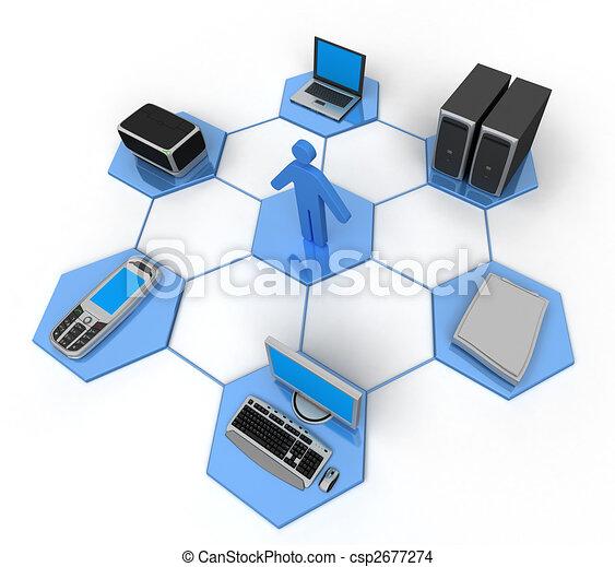 computernetzwerk - csp2677274