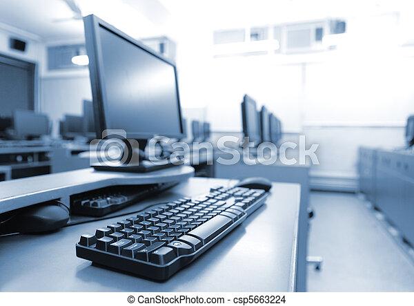 computers, werkplaats, kamer - csp5663224