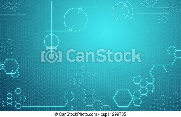 computertechnologie, achtergrond - csp11299735