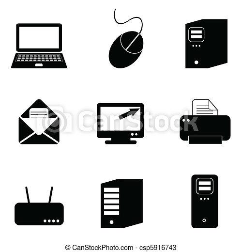 computertechnologie, iconen - csp5916743