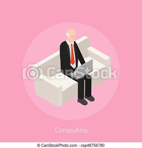 Computing concept design 3d isometric vector illustration - csp48756780