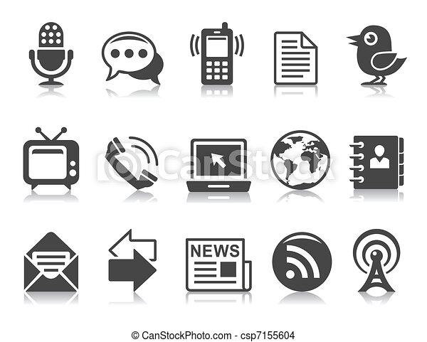 comunicação, ícones - csp7155604