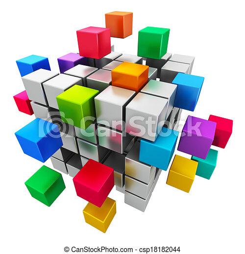 comunicação, conceito, negócio internet, trabalho equipe - csp18182044