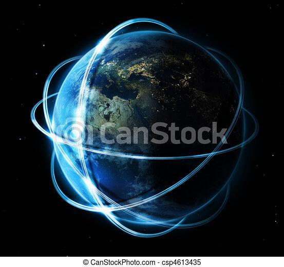comunicação global, conceito - csp4613435