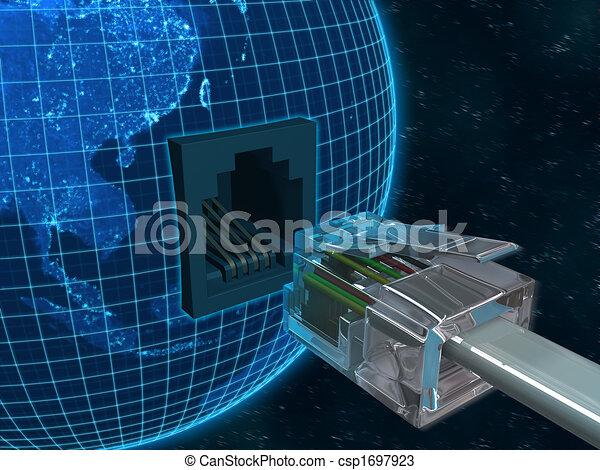 comunicação, global - csp1697923
