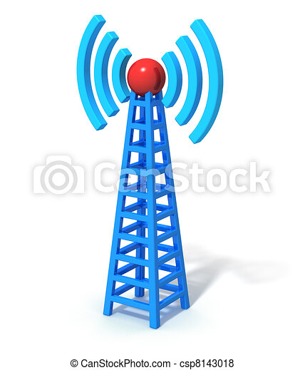 comunicação rádio, torre - csp8143018