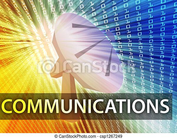 comunicações, ilustração - csp1267249