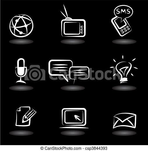 comunicación, 5, iconos - csp3844393
