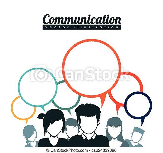 comunicación, burbujas, discurso - csp24839098