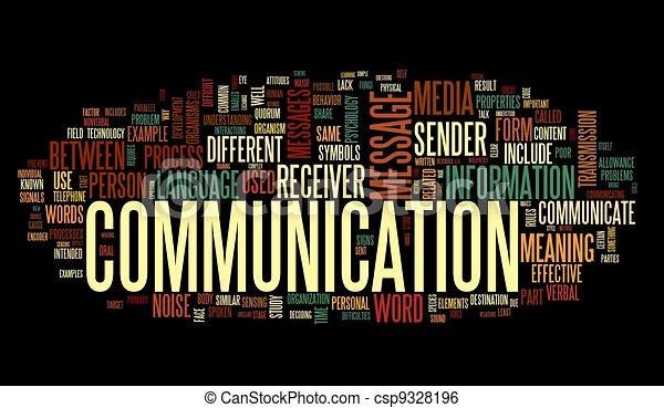 Concepto de comunicación en la palabra tag nube - csp9328196