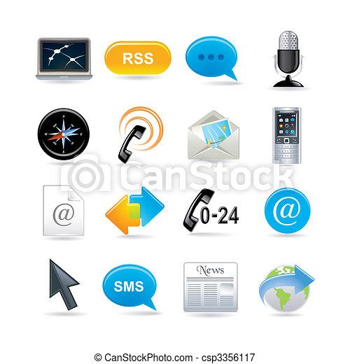 Iconos de comunicación establecidos - csp3356117