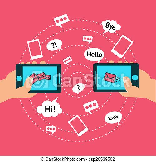 Comunicación y teléfono inteligente - csp20539502