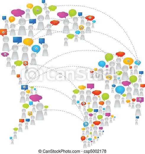 comunicación, global - csp5002178