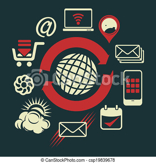 comunicación, global - csp19839678