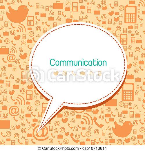 comunicación, iconos - csp10713614