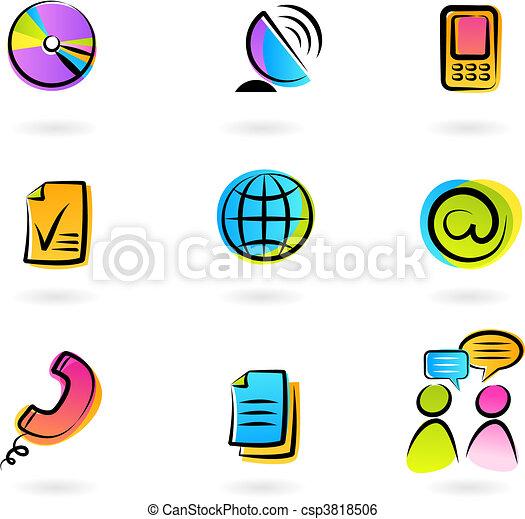 Iconos de comunicación - csp3818506