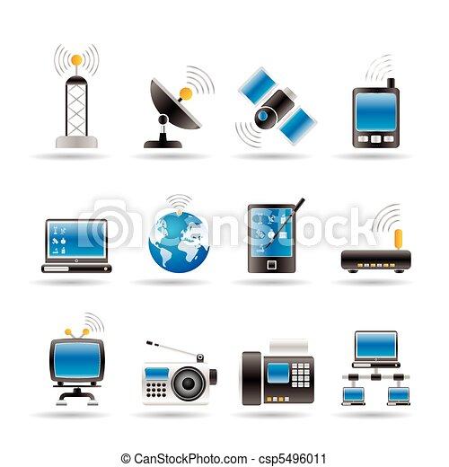 comunicación, iconos de tecnología - csp5496011