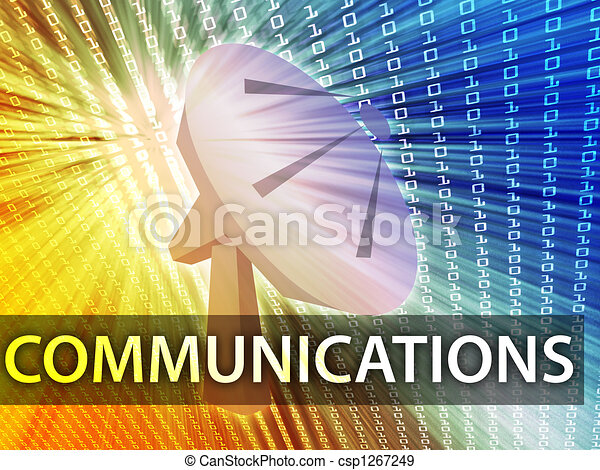 Ilustración de comunicaciones - csp1267249