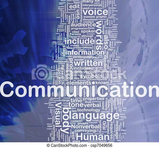 comunicazione, concetto, fondo - csp7049656