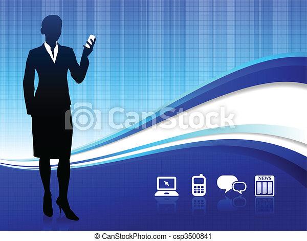 comunicazione, fondo, internet, fili - csp3500841