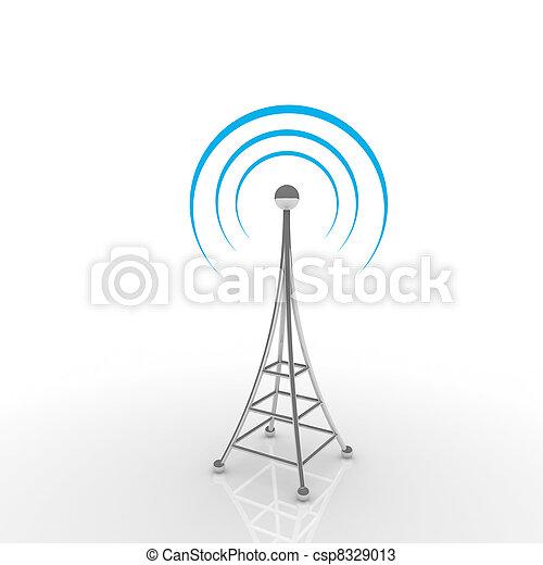 comunicazione mobile, concetto, antena. - csp8329013