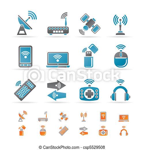 comunicazione, tecnologia, fili - csp5529508