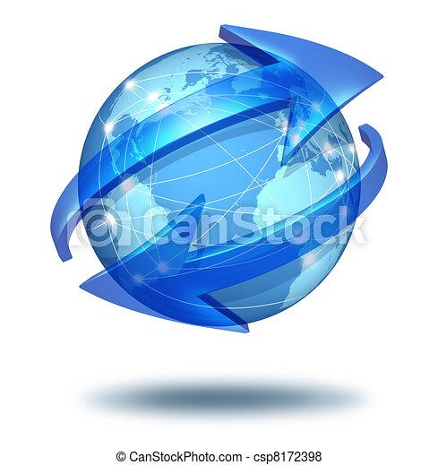 comunicazioni globali, concetto - csp8172398