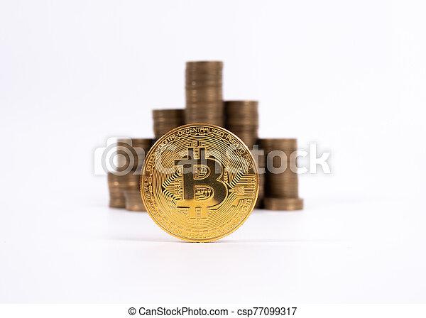 conçu, travail, cyripto, argent, numérique, peer-to-peer, bien, monnaie, mining.bitcoin, transactions - csp77099317