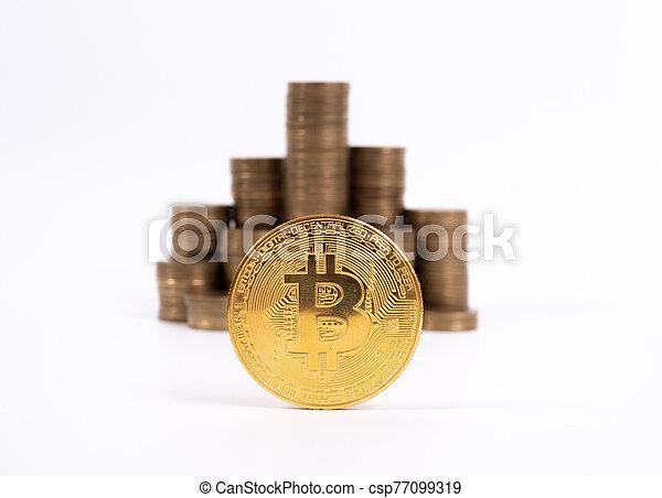 conçu, travail, cyripto, argent, numérique, peer-to-peer, bien, monnaie, mining.bitcoin, transactions - csp77099319