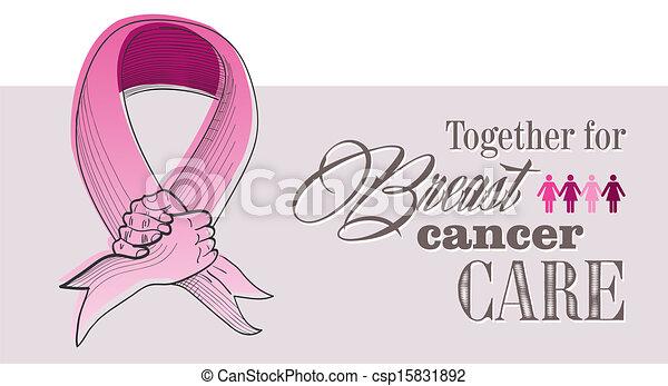 conceito, eps10, câncer, global, ilustração, peito, file., consciência - csp15831892