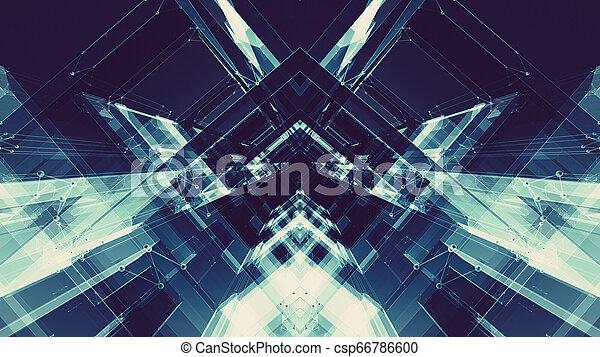 conceito, espaço, abstratos, technology., experiência., futuro, futurista - csp66786600