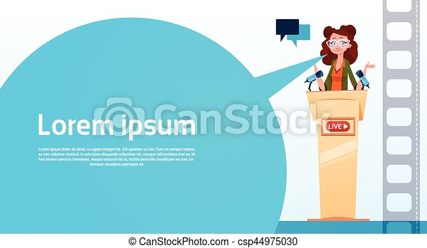 conceito, fluxo, blogger, subscrever, mulher, vídeo, online, blogging - csp44975030